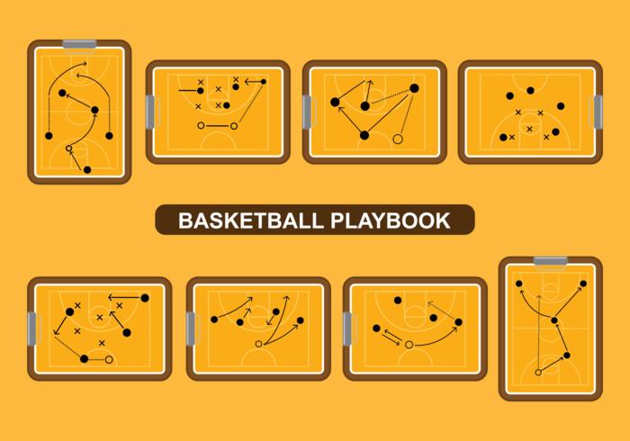 Basketball Playbook Vector