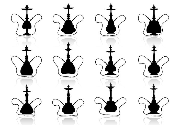 Hookah vector silhouette illustration