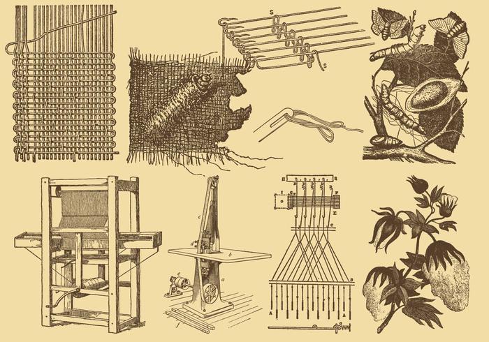 Desenhos da indústria de tecidos