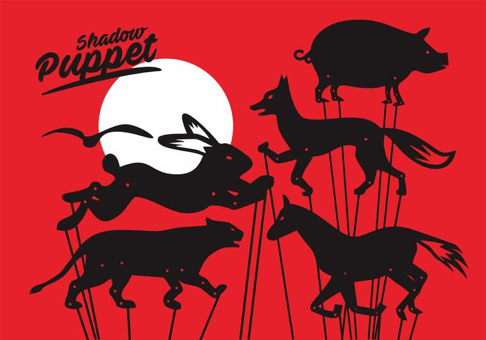 Shadow Puppet Vector Set