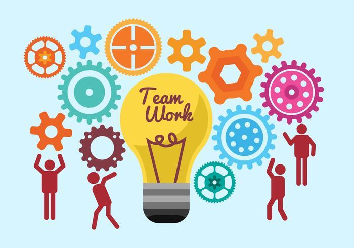 Free Team Work Illustration Vectors