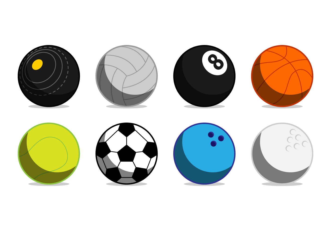 Sports Ball Vector Background Art Free Download: Free Sports Ball Icon Vector