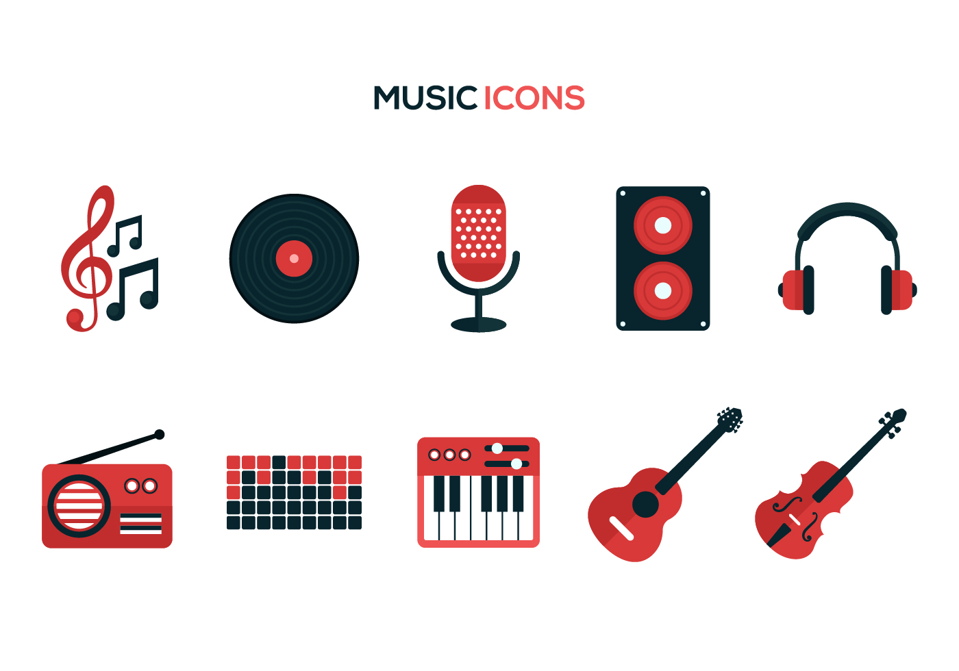 vector music icons microphone icon graphics vecteezy edit