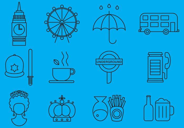 Vereinigtes Königreich Line Icons