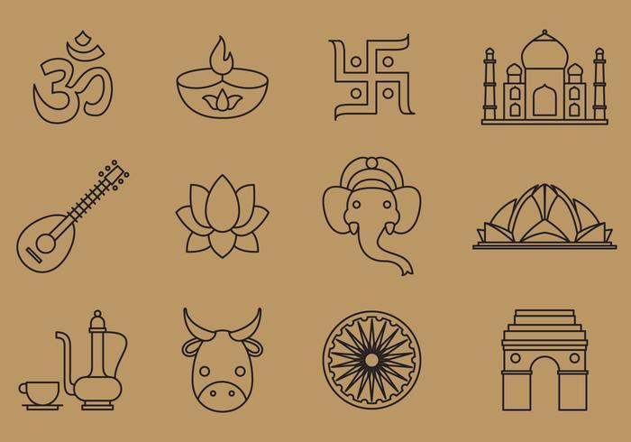 India Line Icons