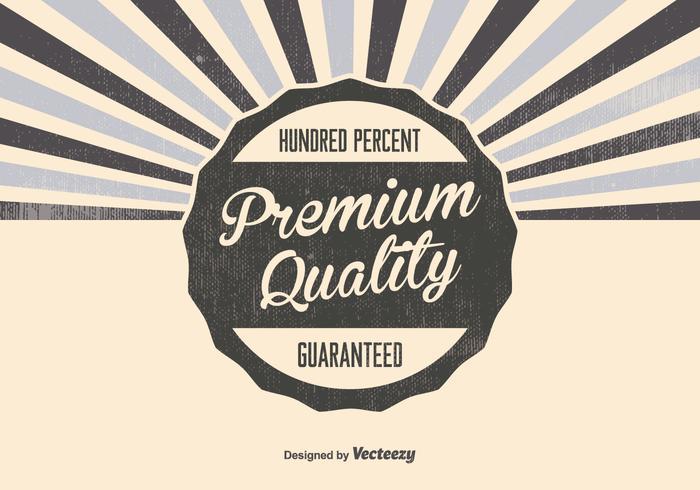 Retro Premium Quality Background vector