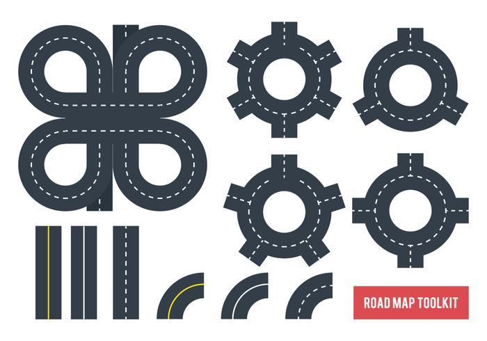 Mappa stradale Tookit vettore