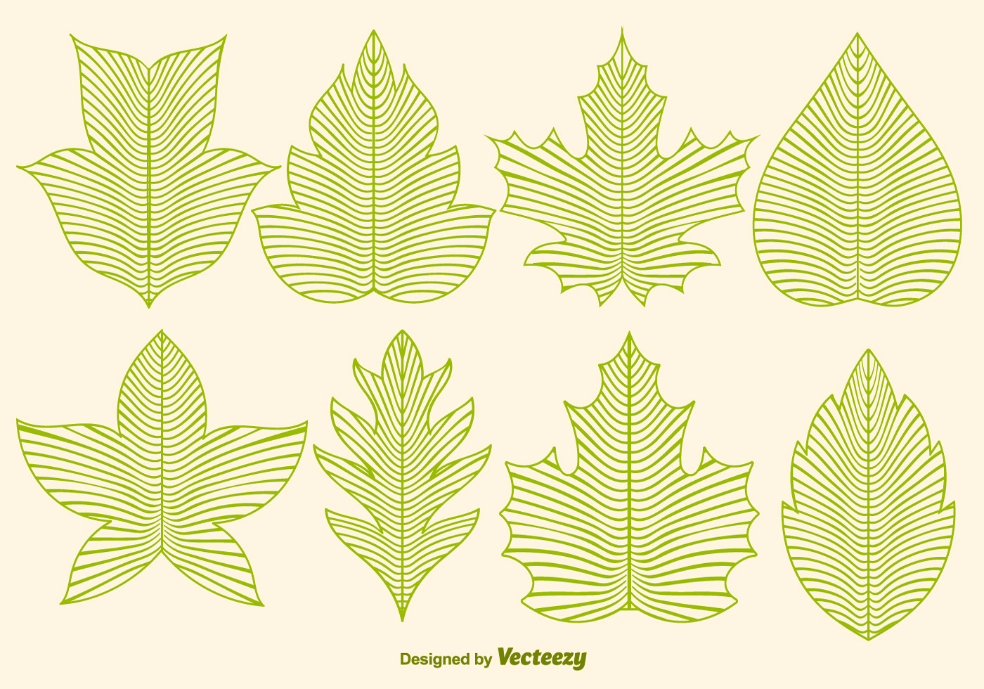 Line Art Leaf : Vector leaf icons in line style download free art