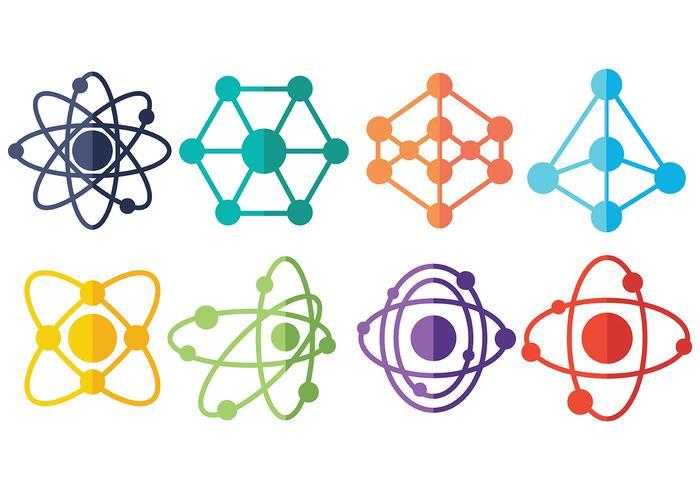 Vecteur icône atomium gratuit