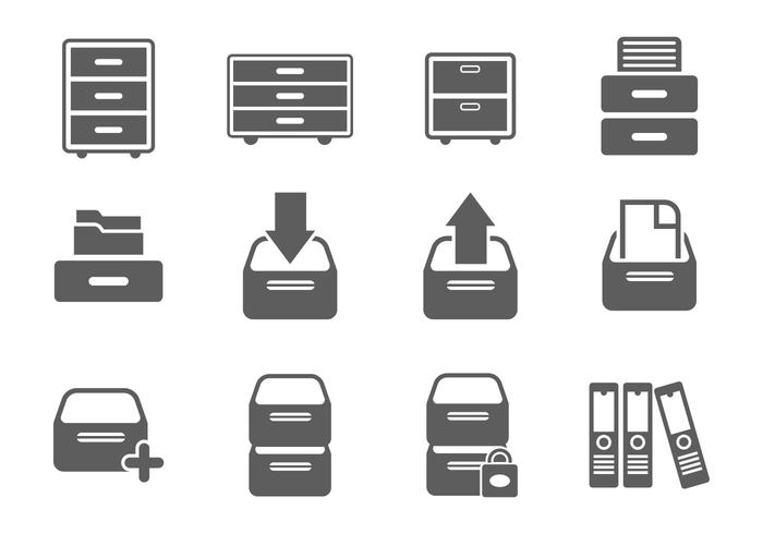 Free File Cabinet Icon Vectors