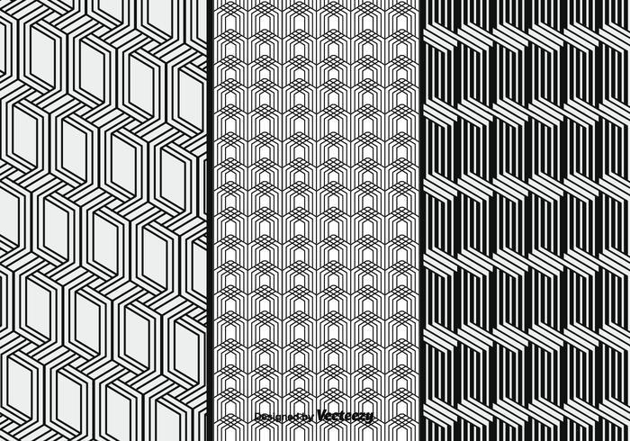 Monochrome Vector Patterns Set