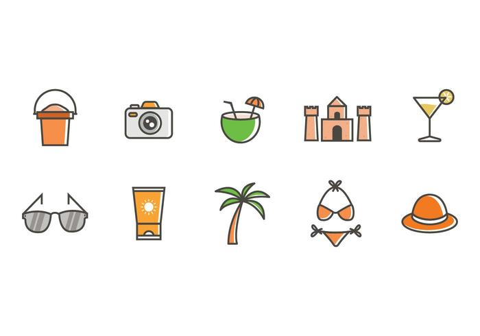 Free Beach Icons Vector