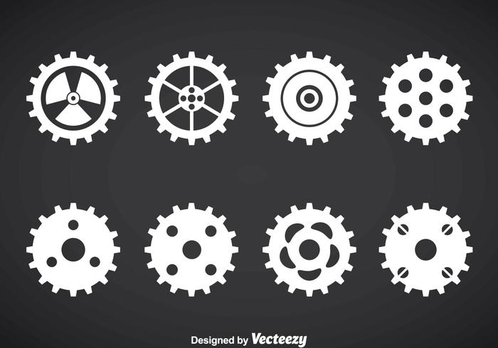Clock Gears Vector Set