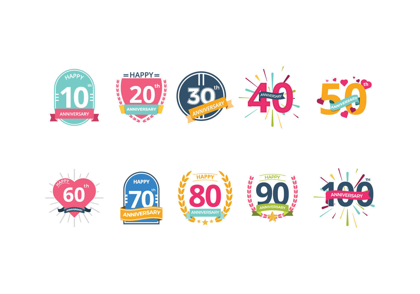 Free Anniversary Vectors Download Free Vector Art Stock Graphics Amp Images