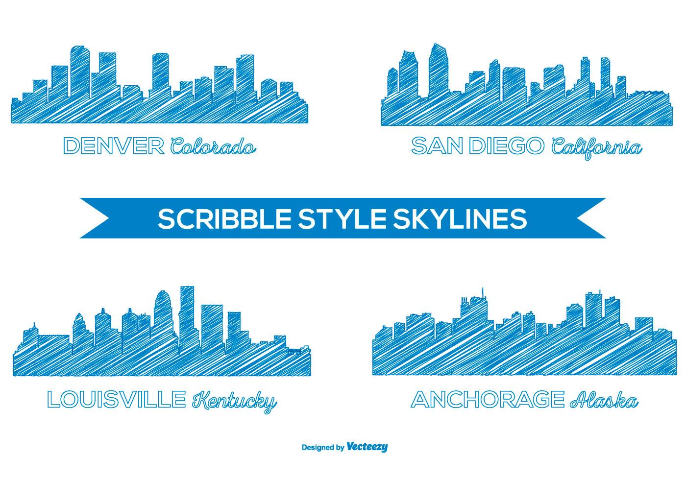 city skyline free vector art 2654 free downloads