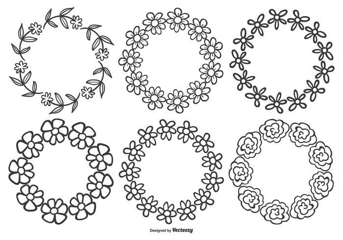 Cornici di fiori disegnati a mano carina