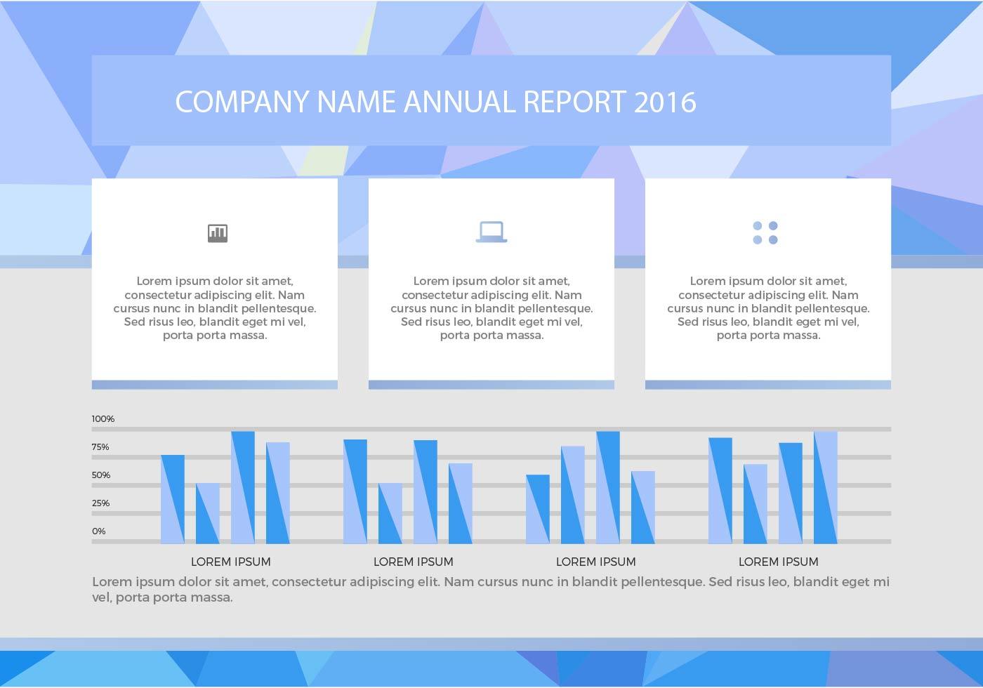 free annual report vector presentation 6
