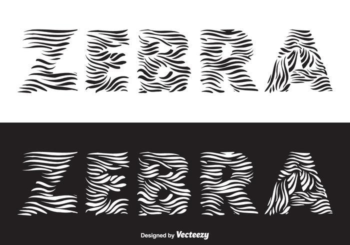 Free Zebra Vector Lettering