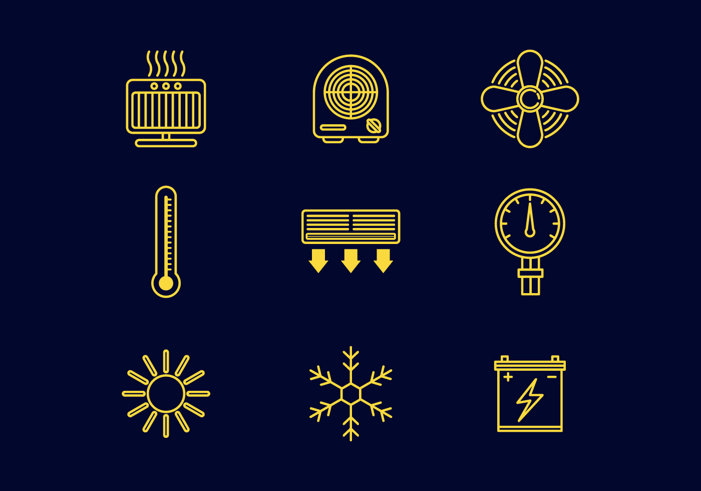 Line Art Icons Free : Free heating line icons vector download art