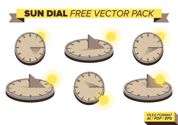 Sun Dial Free Vector Pack