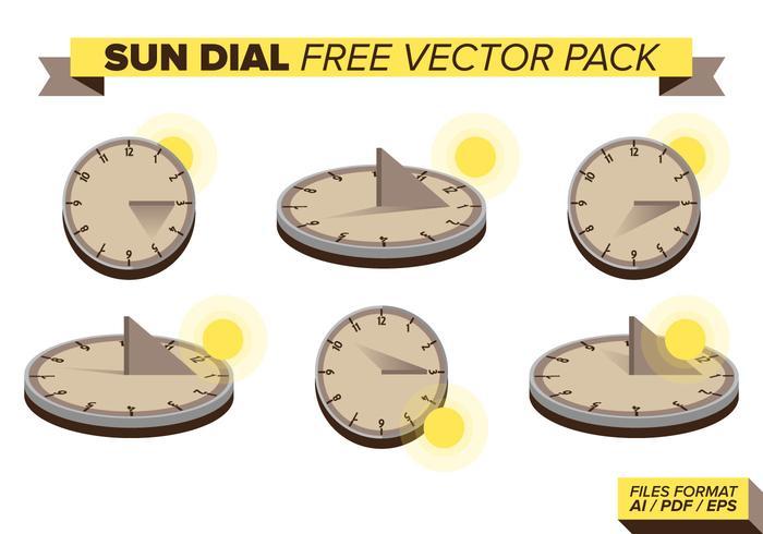 Pacote de vetores gratuitos do Sun Dial