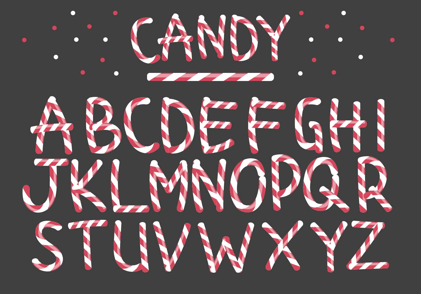 Peppermint Candy Letter Vectors Download Free Vector Art