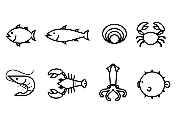 Free Seafood Icon vector