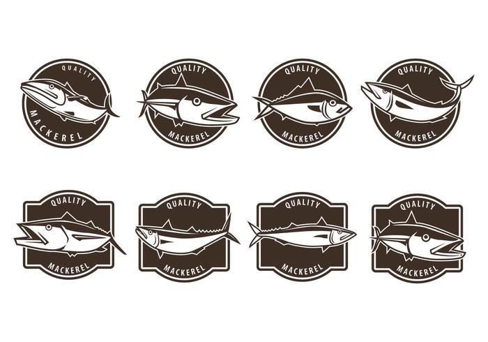 Free Mackerel Badge Vectors