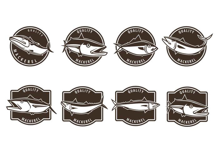 Vectores libres de la insignia de la caballa