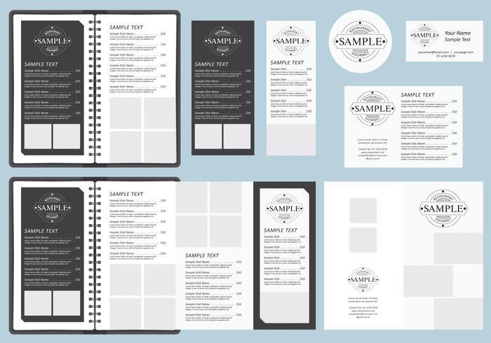 bw menu templates
