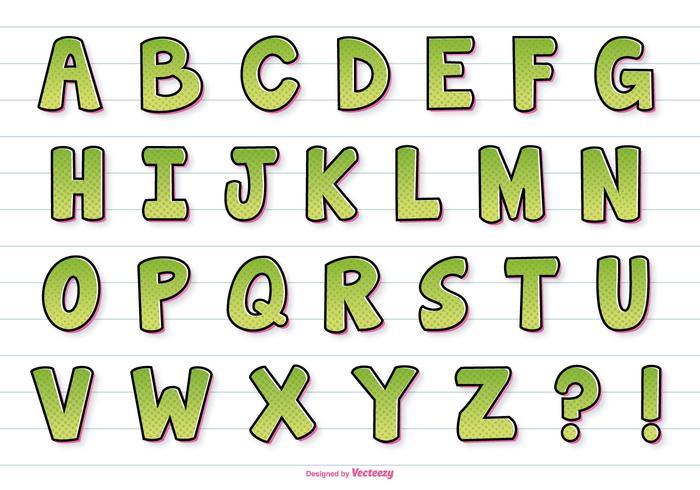 Comic Style Vector Alphabet
