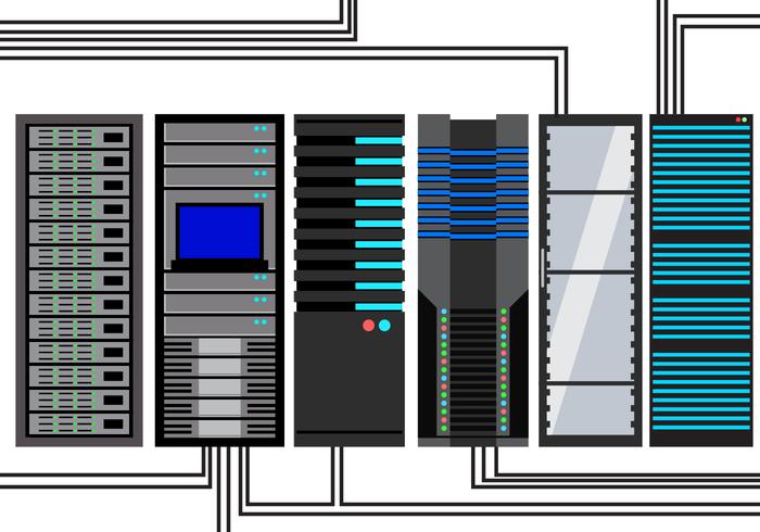 Vector de servidor gratuito de rack