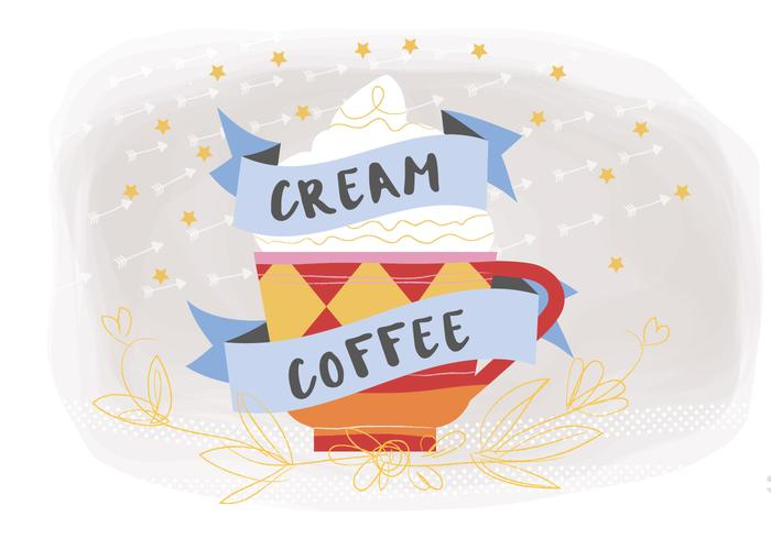 Coffee Cream Vector Background