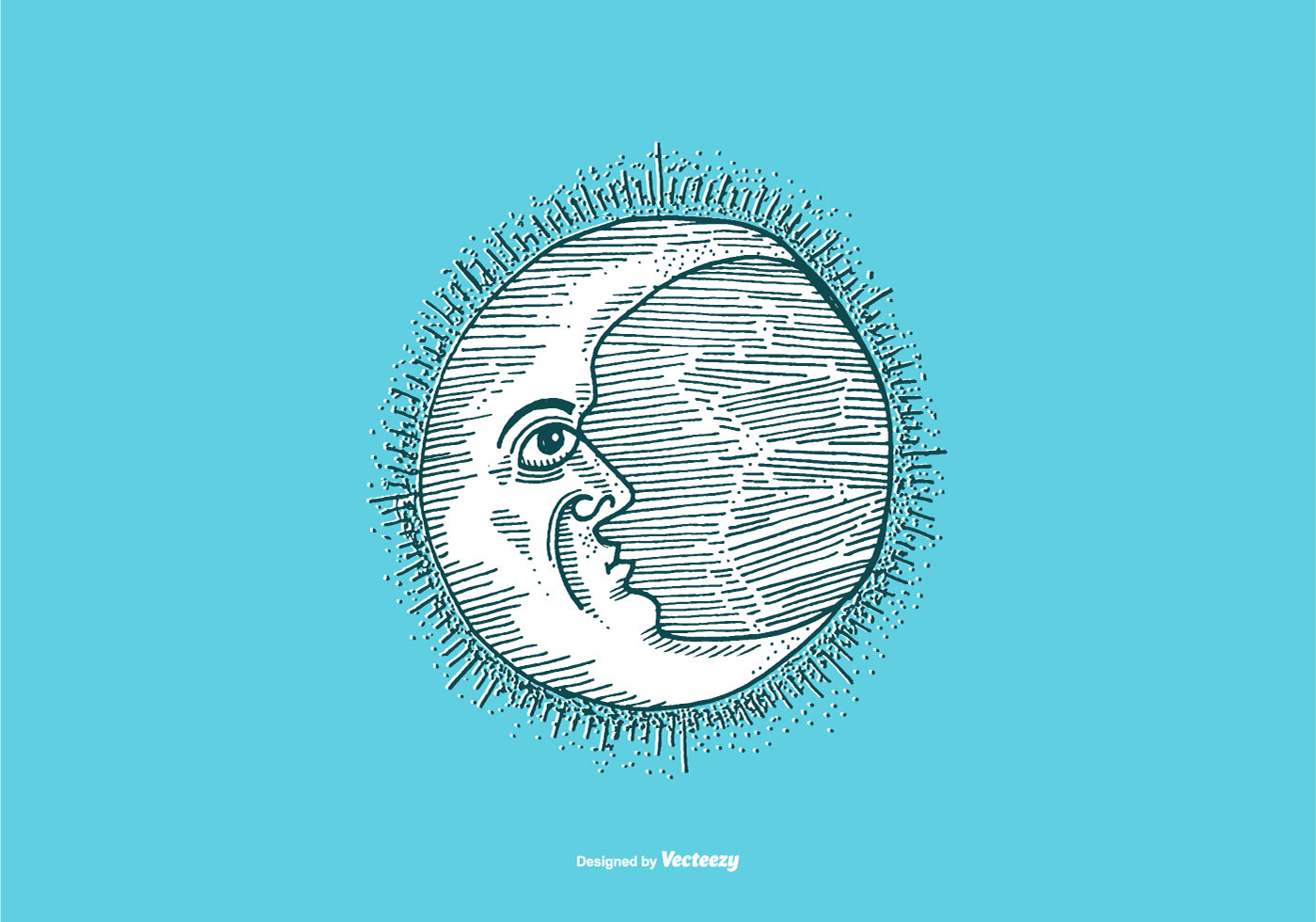 Line Drawing Moon : Moon line drawing download free vector art stock