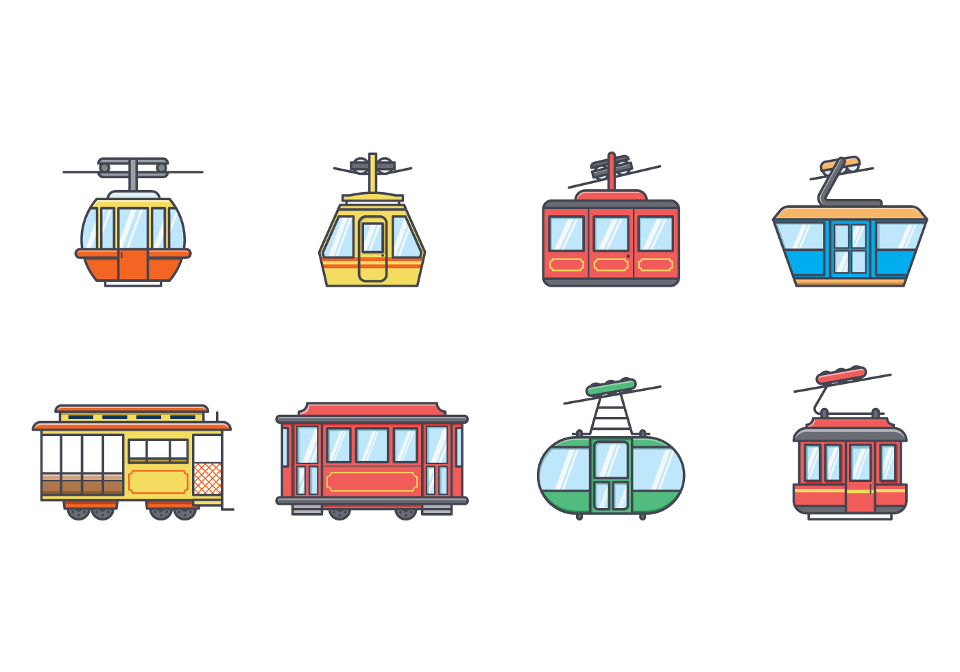 ... Cable Car Vector - Download Free Vector Art, Stock Graphics & Images
