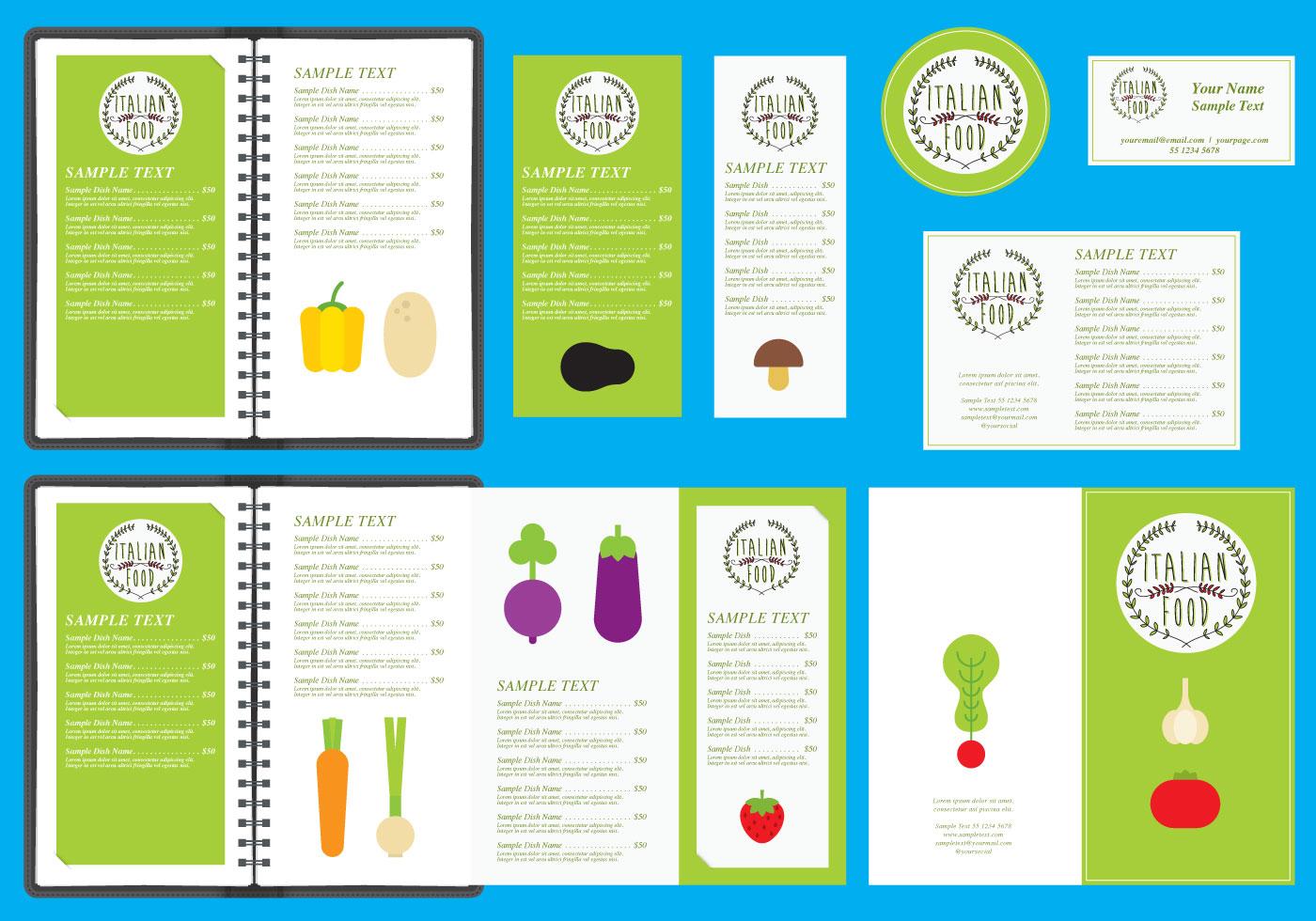 italian restaurant menu templates