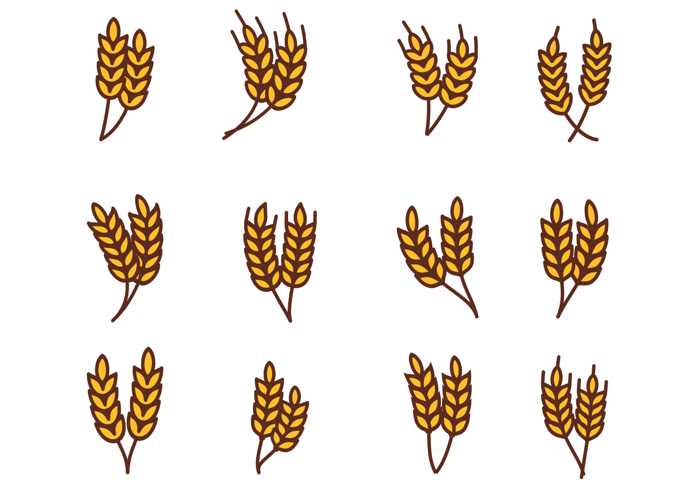 free wheat vector download free vector art stock