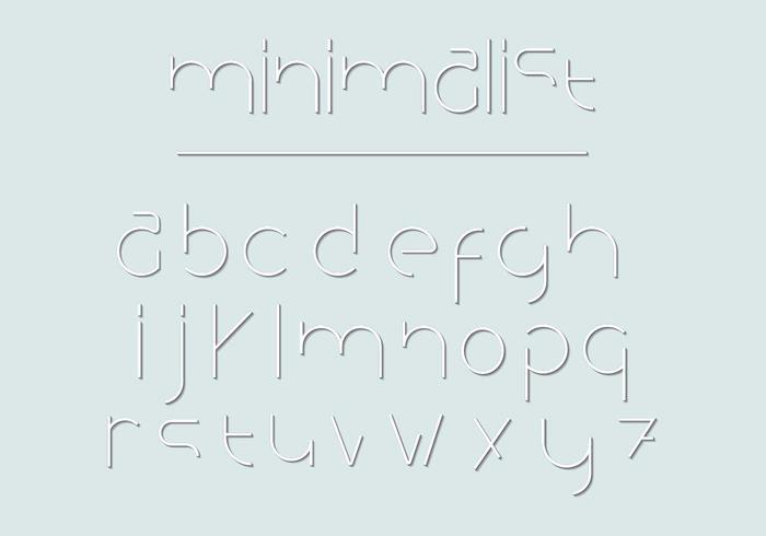 Pack vectoriel de lettres minimalistes
