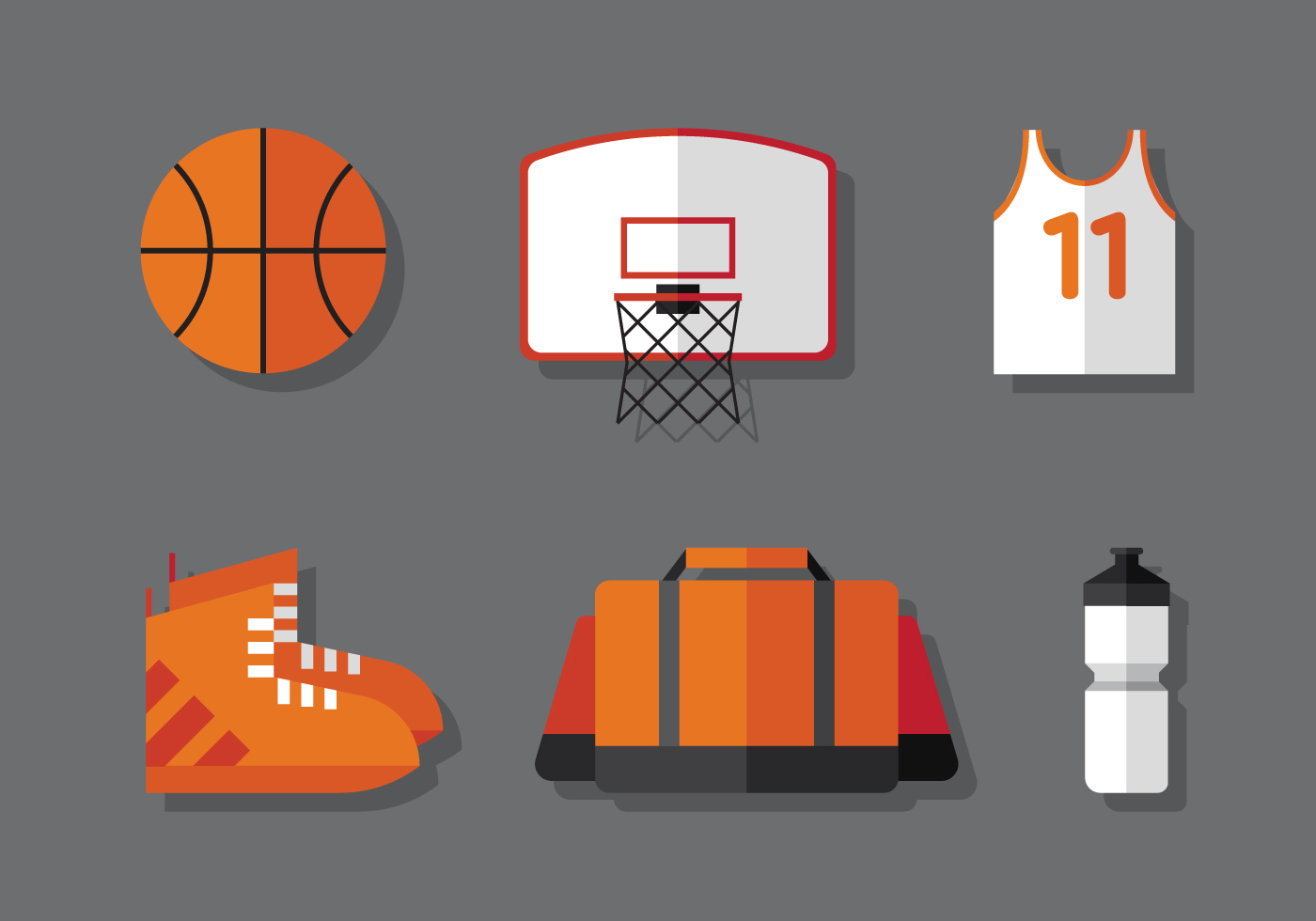 Basketball hoop free vector art 611 free downloads for Free basketball vector