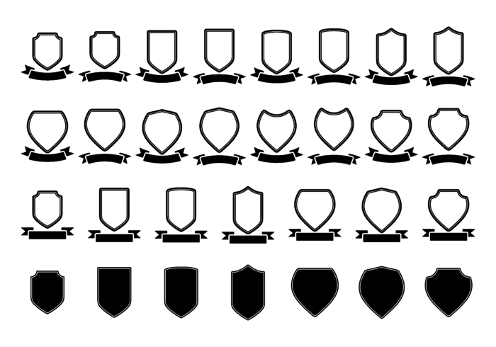Blason / shield / ribbon vector  template