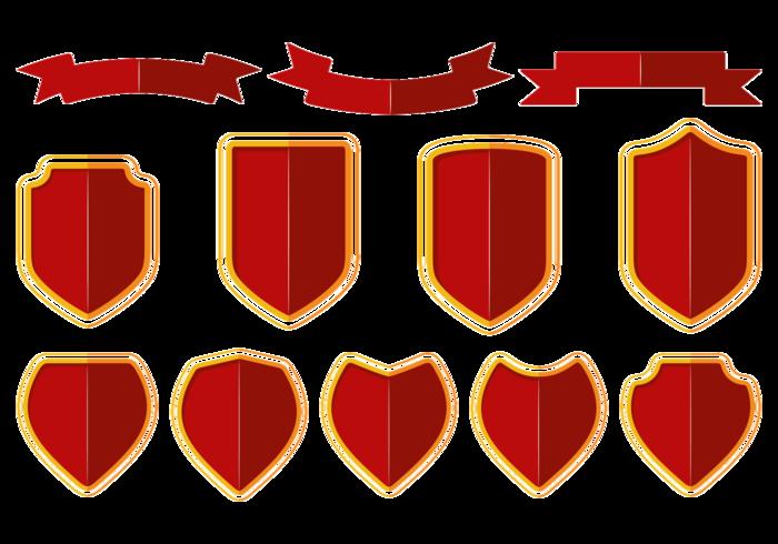 Blason / shield / ribbon vector