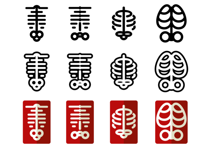 Ribcage Vector Icons
