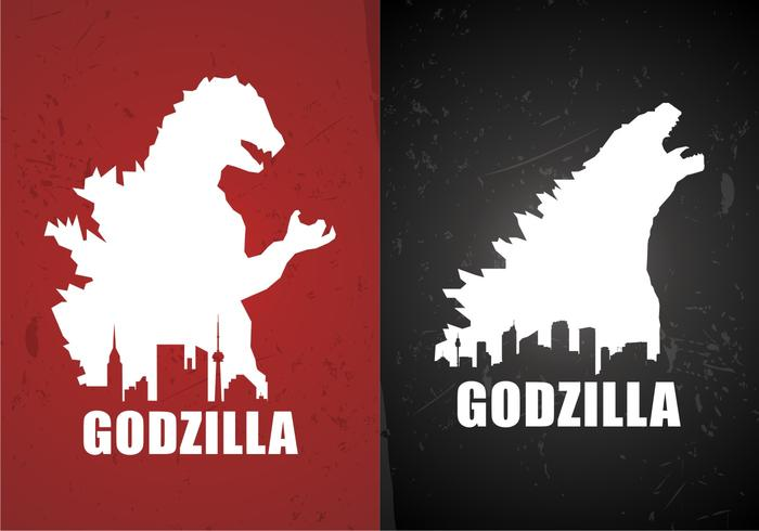 Godzilla Movie Poster Backgrounds Free Vector