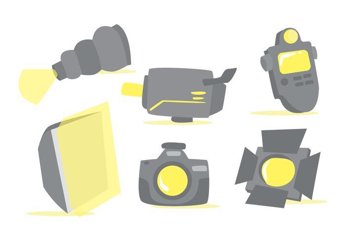 Photo Studio Tools Vector Set