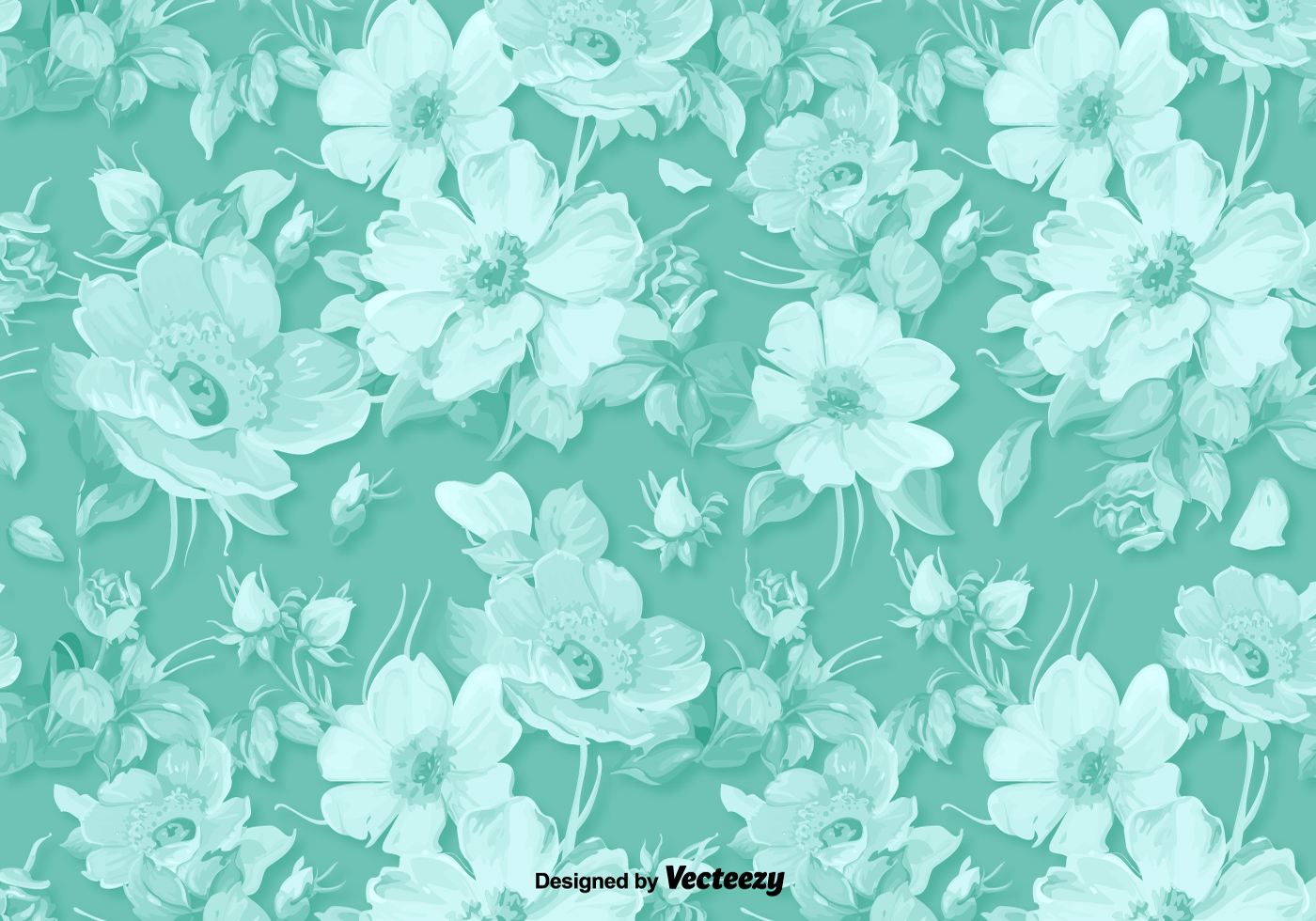Classic vector floral background download free vector art stock graphics images - Floral background ...