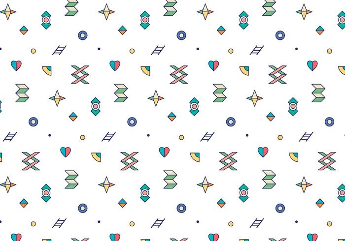Colorful Outline Geometric Pattern