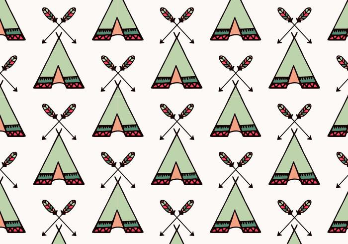 Free Vector Tipi Muster