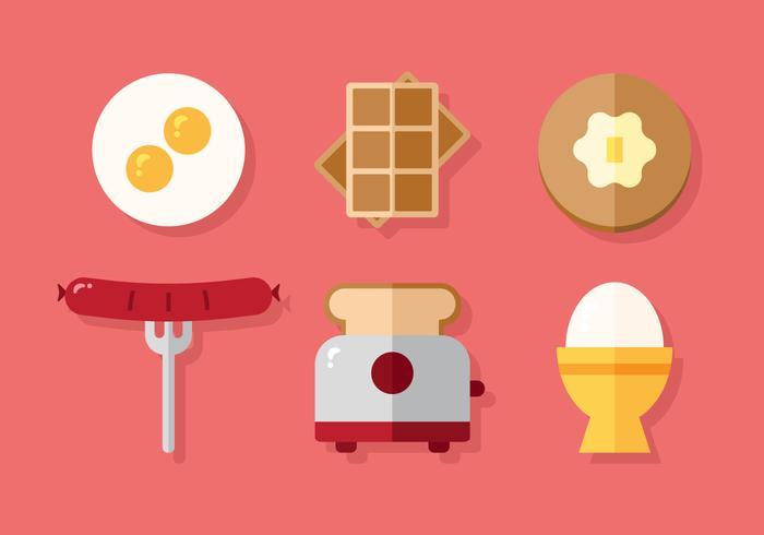 Menu de pequeno-almoço vetorial
