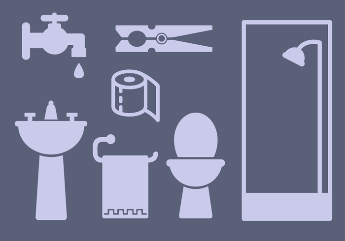 Vecteur gratuit d'éléments de salle de bains