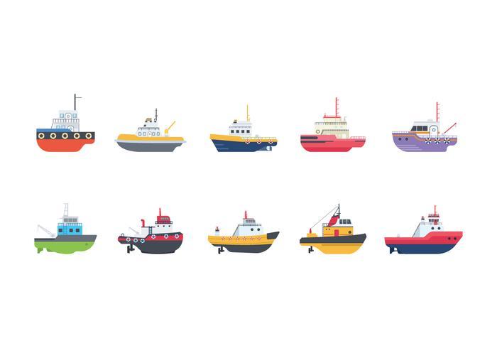 Free Tugboat Vectors